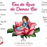 étiquette eau de rose